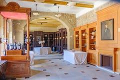 Elciego, à  lawa, Hiszpania Kwiecień 23, 2018: Szlachetny pokój w przesłankach wino lochy los angeles Rioja dzwonił marqués De  Fotografia Stock