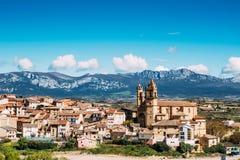 Elciego χωριό, Ισπανία Στοκ Εικόνες