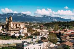 Elciego-Dorf, Spanien Stockfotografie