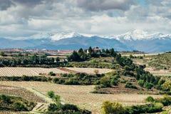Elciego by, Spanien Arkivfoto