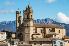 Elciego by, Spanien Royaltyfri Fotografi