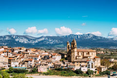 Elciego village, spain Stock Images