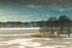 Elckie湖在冬天 库存照片