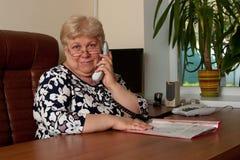 Eldely affärskvinna Fotografering för Bildbyråer