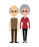 Eldely couple with glasses bald Royalty Free Stock Photos
