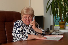 Eldely Geschäftsfrau Stockfotos