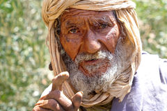 Old man Berber in Marrakech stock images