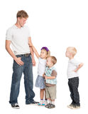 Elder brother and younger sister and brothers Stock Photography