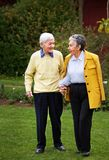 Elder couple walking Royalty Free Stock Photo