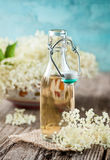 Elder flower syrup Royalty Free Stock Images