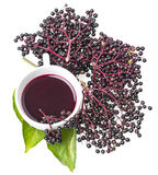 Elder herbal syrup Stock Photos