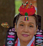 Elder Korean Bride at Cultural Celebration Royalty Free Stock Photos
