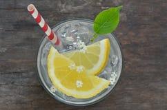 Elder lemonade with ice Royalty Free Stock Photo
