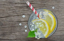 Elder lemonade with ice Stock Image