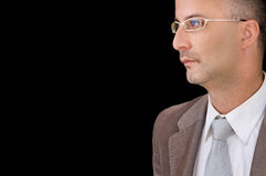 Elder male with glasses Royalty Free Stock Photos