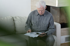 Elder man in bankrupt Stock Image