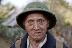 Elder Man in Laos. A Portrait of a elder Lao Man in Viang Xai in Laos Royalty Free Stock Image