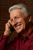 Elder man in a shirt Royalty Free Stock Image