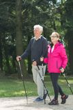 Elder pair strolling Royalty Free Stock Images