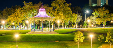 Elder Park Rotunda in Adelaide city. Elder Park Rotunda illuminated at night in Elder Park, Adelaide, South Australia Royalty Free Stock Image