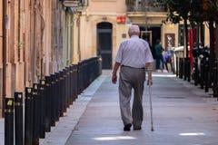 Elder people walking hour Barcelona