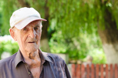 Elder senior man Stock Image