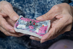 Elder sewing Royalty Free Stock Photo
