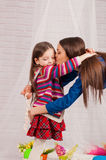 Elder sister and little girl Royalty Free Stock Photos