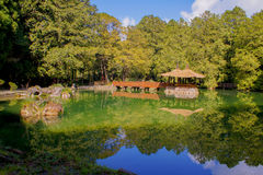 The elder Sister pond in Alishan stock images