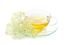 Elder tea Stock Photo