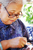 Elder woman Stock Photography
