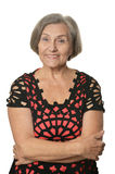 Elder woman. Close-up portrait of an elder woman isolated in studio Royalty Free Stock Image