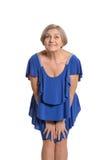 Elder woman in elegant dress Royalty Free Stock Image