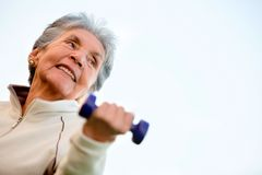 Elder woman exercising Stock Photography