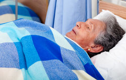 Elder woman at the hospital Royalty Free Stock Photos