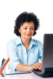 Elder Woman With Laptop. Stock Photo
