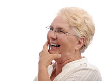 Elder woman head laugh Royalty Free Stock Photos