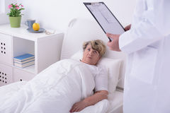 Elder woman in private clinic Stock Photography