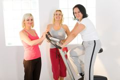Elder women at gym Stock Photography