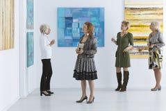 Elder women during opening royalty free stock photo