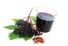 elderberry χυμός Στοκ Φωτογραφίες