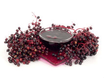 Elderberry jelly Stock Photography