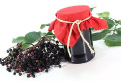 Elderberry jelly Stock Photo
