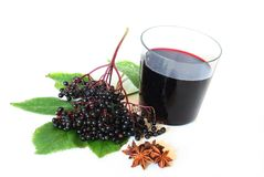 Elderberry juice Stock Photos