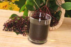 Elderberry juice Stock Photo