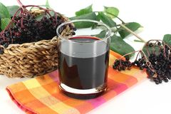 Elderberry juice Stock Image
