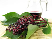 Elderberry juice Royalty Free Stock Photo