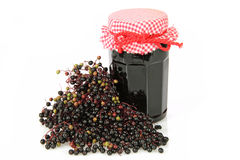 Elderberry marmelade Stock Photos
