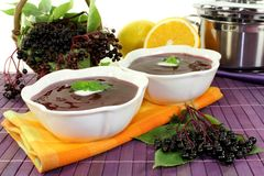 Elderberry soup Royalty Free Stock Images