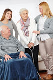 Eldercare nursing service at home Stock Images